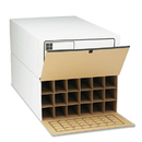 SAFCO PRODUCTS SAF3094 Tube-Stor Roll File, Storage Box, 24 X 37-1/2 X 12, White, 2/ctn