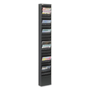 SAFCO PRODUCTS SAF4322BL Steel Magazine Rack, 23 Compartments, 10w X 4d X 65-1/2h, Black