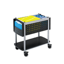 SAFCO PRODUCTS SAF5373BL Scoot Open Top Mobile File Cart, 28w X 14-3/4d X 26h, Black With Silver