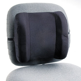 Remedease High Profile Backrest,123/4W X 4D X 13H, Black, Price/EA