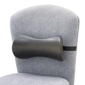 Lumbar Support Memory Foam Backrest, 14-1/2W X 3-3/4D X 6-3/4H, Black, Price/EA