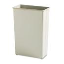 SAFCO PRODUCTS SAF9618SA Rectangular Wastebasket, Steel, 22gal, Sand