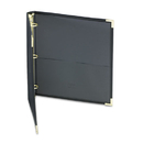 "Classic Collection Ring Binder Portfolio, 11 X 8-1/2, 1"" Capacity, Black"