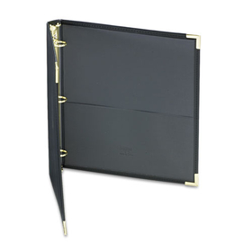 "SAMSILL CORPORATION SAM15130 Classic Collection Ring Binder Portfolio, 11 x 8-1/2, 1"" Capacity, Black, Price/EA"