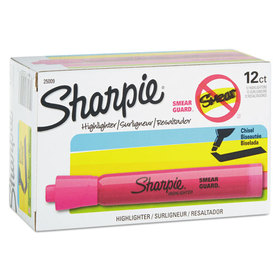 SANFORD INK COMPANY SAN25009 Accent Tank Style Highlighter, Chisel Tip, Pink, 12/Pk, Price/DZ