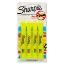 SANFORD INK COMPANY SAN25164PP Accent Tank Style Highlighter, Chisel Tip, Fluorescent Yellow, 4/set