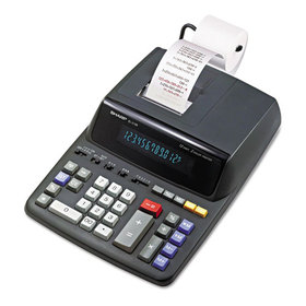 El2196Bl Two-Color Printing Calculator, 12-Digit Fluorescent, Black/Red, Price/EA
