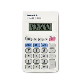 El233Sb Pocket Calculator, 8-Digit Lcd