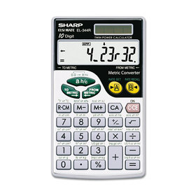 EL344RB Metric Conversion Wallet Calculator, 10-Digit LCD, Price/EA
