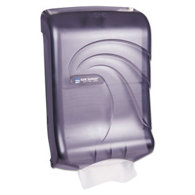 Oceans Ultrafold Towel Dispenser, Transparent Black, 11-3/4w x 6-1/4d x 18h, Price/EA