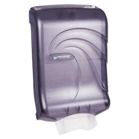 LAGASSE, INC. SJMT1790TBK Oceans Ultrafold Towel Dispenser, Transparent Black, 11 3/4w x 6 1/4d x 18h, Price/EA