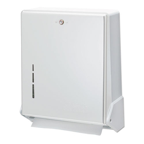 LAGASSE, INC. SJMT1905WH True Fold Metal Front Cabinet Towel Dispenser, 11 5/8 x 5 x 14 1/2, White, Price/EA