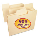 SMEAD MANUFACTURING CO. SMD10301 Supertab File Folders, 1/3 Cut Top Tab, Letter, Manila, 100/box