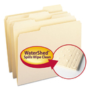 SMEAD MANUFACTURING CO. SMD10314 Watershed File Folders, 1/3 Cut Top Tab, Letter, Manila, 100/box