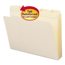 SMEAD MANUFACTURING CO. SMD10356 File Folders, 1/5 Cut, Reinforced Top Tab, Letter, Manila, 100/box