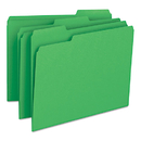 SMEAD MANUFACTURING CO. SMD12143 File Folders, 1/3 Cut Top Tab, Letter, Green, 100/box