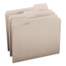 SMEAD MANUFACTURING CO. SMD12343 File Folders, 1/3 Cut Top Tab, Letter, Gray, 100/box