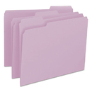SMEAD MANUFACTURING CO. SMD12443 File Folders, 1/3 Cut Top Tab, Letter, Lavender, 100/box
