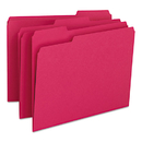 SMEAD MANUFACTURING CO. SMD12743 File Folders, 1/3 Cut Top Tab, Letter, Red, 100/box