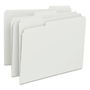 SMEAD MANUFACTURING CO. SMD12843 File Folders, 1/3 Cut Top Tab, Letter, White, 100/box