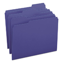 SMEAD MANUFACTURING CO. SMD13193 File Folders, 1/3 Cut Top Tab, Letter, Navy, 100/box