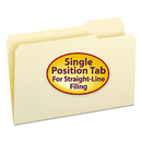 SMEAD MANUFACTURING CO. SMD15333 File Folders, 1/3 Cut Third Position, One-Ply Top Tab, Legal, Manila, 100/box