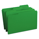 SMEAD MANUFACTURING CO. SMD17143 File Folders, 1/3 Cut Top Tab, Legal, Green, 100/box