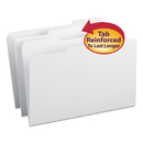 SMEAD MANUFACTURING CO. SMD17834 File Folders, 1/3 Cut, Reinforced Top Tab, Legal, White, 100/box