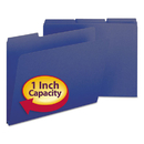 SMEAD MANUFACTURING CO. SMD21541 Recycled Folders, One Inch Expansion, 1/3 Top Tab, Letter, Dark Blue, 25/box