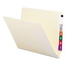 SMEAD MANUFACTURING CO. SMD24100 Shelf Folders, Straight Cut, Single-Ply End Tab, Letter, Manila, 100/box