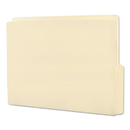 SMEAD MANUFACTURING CO. SMD24128 Folders, 1/2 Cut Bottom, Reinforced End Tab, Letter, Manila, 100/box