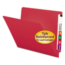 SMEAD MANUFACTURING CO. SMD25710 Colored File Folders, Straight Cut, Reinforced End Tab, Letter, Red, 100/box