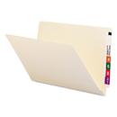 SMEAD MANUFACTURING CO. SMD27100 Shelf Folders, Straight Cut, Single-Ply End Tab, Legal, Manila, 100/box