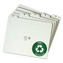 SMEAD MANUFACTURING CO. SMD50376 Recycled Top Tab File Guides, Alpha, 1/5 Tab, Pressboard, Letter, 25/set