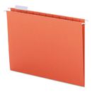 SMEAD MANUFACTURING CO. SMD64065 Hanging File Folders, 1/5 Tab, 11 Point Stock, Letter, Orange, 25/box
