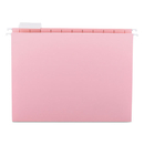 SMEAD MANUFACTURING CO. SMD64066 Hanging File Folders, 1/5 Tab, 11 Point Stock, Letter, Pink, 25/box