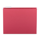 SMEAD MANUFACTURING CO. SMD64067 Hanging File Folders, 1/5 Tab, 11 Point Stock, Letter, Red, 25/box