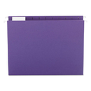 SMEAD MANUFACTURING CO. SMD64072 Hanging File Folders, 1/5 Tab, 11 Point Stock, Letter, Purple, 25/box