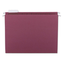 SMEAD MANUFACTURING CO. SMD64073 Hanging File Folders, 1/5 Tab, 11 Point Stock, Letter, Maroon, 25/box
