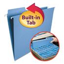 Smead SMD64099 Fastab Hanging File Folders, Letter, Blue, 20/box