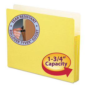 1 3/4 Inch Accordion Expansion Colored File Pocket, Straight Tab, Letter, Yellow, Price/EA