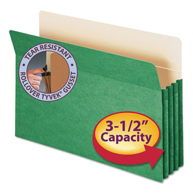SMEAD MANUFACTURING CO. SMD74226 3 1/2 Inch Accordion Expansion Colored File Pocket, Straight Tab, Legal, Green, Price/EA