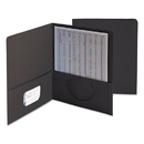 SMEAD MANUFACTURING CO. SMD87853 Two-Pocket Folder, Textured Paper, Black, 25/box