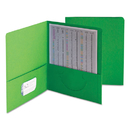 SMEAD MANUFACTURING CO. SMD87855 Two-Pocket Folder, Textured Paper, Green, 25/box