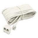 SOFTALK LLC SOF04130 Telephone Extension Cord, Plug/dual Jack, 25 Ft., Almond