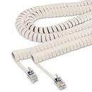 SOFTALK LLC SOF42260 Coiled Phone Cord, Plug/plug, 25 Ft., Beige