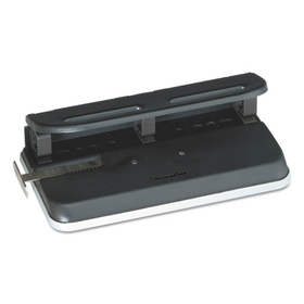 "ACCO BRANDS SWI74150 24-Sheet Easy Touch Three- to Seven-Hole Punch, 9/32"" Holes, Black, Price/EA"