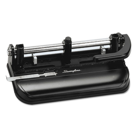 "ACCO BRANDS SWI74350 32-Sheet Lever Handle Two- to Seven-Hole Punch, 9/32"" Holes, Black"