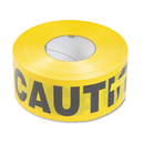 TATCO TCO10700 Caution Barricade Safety Tape, Yellow, 3w X 1000ft Roll