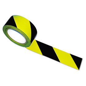 Hazard Marking Aisle Tape, 2W X 108Ft Roll, Price/RL